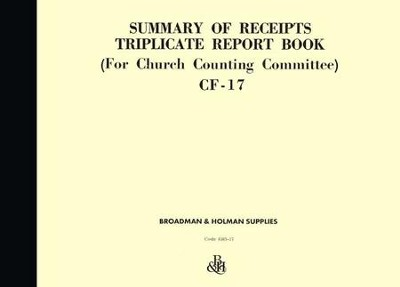 Summary of Receipts Triplicate Report Book, CF-17   -