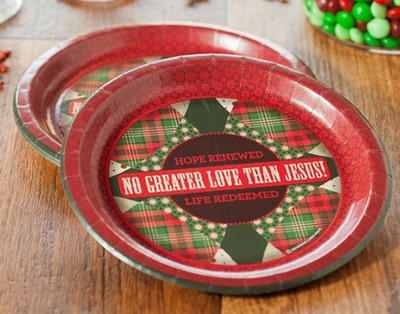No Greater Love Paper Dinner Plates, Pack of 8  -
