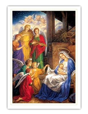 Holy Family Christmas Cards, Box of 18  -