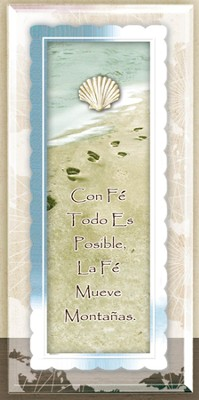 Con Fé, Placa Enmarcada  (With Faith, Framed Plaque)  -