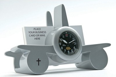 Airplane Business Card Holder, Silver  -