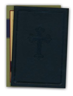 NASB Large Print Compact Leathertex Bible - Black  -