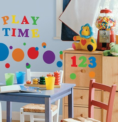 Numbers, Vinyl Wall Stickers, Primary Colors  -