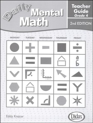 Daily Mental Math Grade 4 Teacher's Guide   -