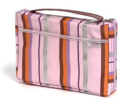 Sassy Stripes Bible Cover, Lavender, Large   -