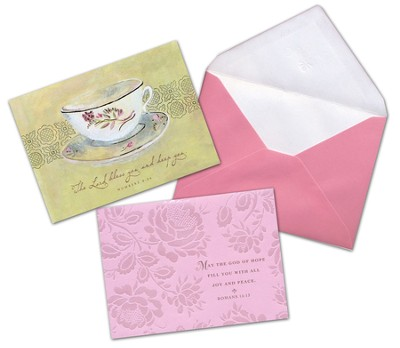 Teacup Blank Note Cards, Box of 12   -