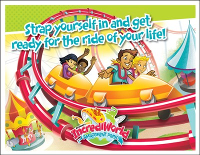 IncrediWorld Amazement Park VBS Invitation Postcards (Pack of 40)  -