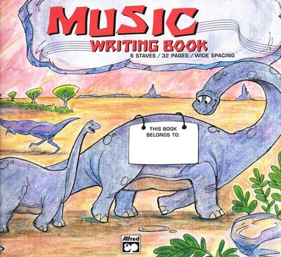 Alfred's Basic Music Writing Book, Wide-lined, 32 pages   -