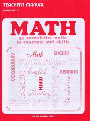Math Part A Teacher's Manual  -