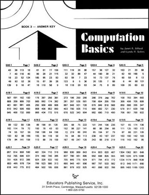 Computation Basics 3 Key  -