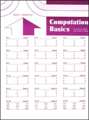Computation Basics 5 Key  -