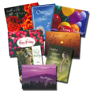 All Occasion Inspirational Greeting Cards: 24 Card Poly-Bagged Set  -
