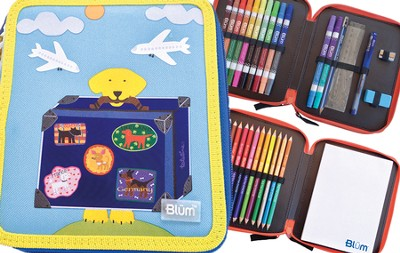 Double Decker Kid's ART Kit, Travel Dog Design   -