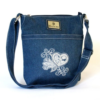 Grace Heart Denim Mini Handbag  -