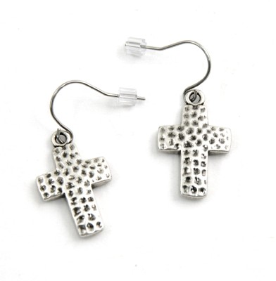 Old Rugged Cross Earring  -