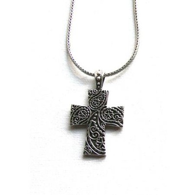 Flower Of Love Cross Necklace  -