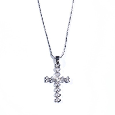 Thankful Heart Cross Necklace  -