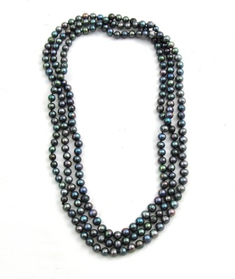 Pearly Gates Rice Pearls Necklace, Black  -