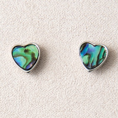 Framed Heart Earrings, Wild Pearle  -