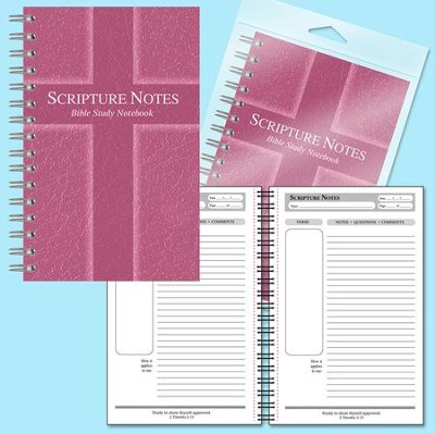 Scripture Notes Bible Study Notebook - Rose  -