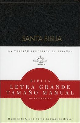 Biblia RVR 1960 Letra Gde. Tam. Manual, Piel Imit. Negra  (RVR 1960 Hand-Sized Giant Print Bible, Imit. Leather Black)  -     By: Bible