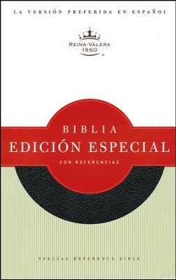 Biblia Especial con Referencias RVR 1960, Piel Fab. Negra  (RVR 1960 Special Reference Bible, Bon. Leather Black)  -