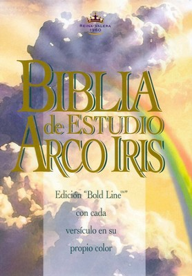 RVR 1960 Biblia de Estudio Arco Iris, Piel Fab. Negra, Indexada (RVR 1960 Rainbow Study Bible, Bonded Leather Black, Indexed)  -