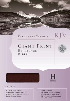 KJV Giant-Print Reference Bible, Imitation leather, burgundy   -