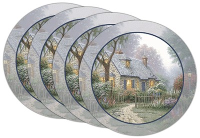 Thomas Kinkade Foxglove Cottage Coasters, Set of 4  -     By: Thomas Kinkade