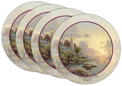 Thomas Kinkade Sea of Tranquility Coasters, Set of 4  -     By: Thomas Kinkade