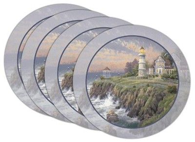 Thomas Kinkade Victorian Light Coasters, Set of 4  -     By: Thomas Kinkade