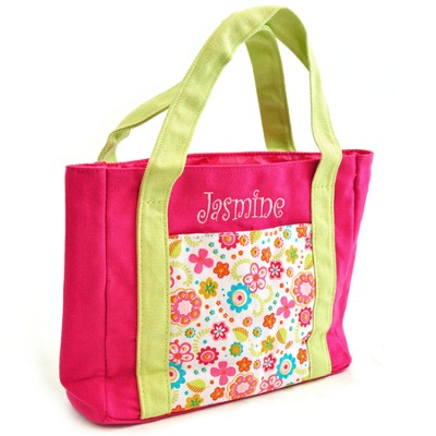 Personalized, My First Church Bag, With Flowers   -