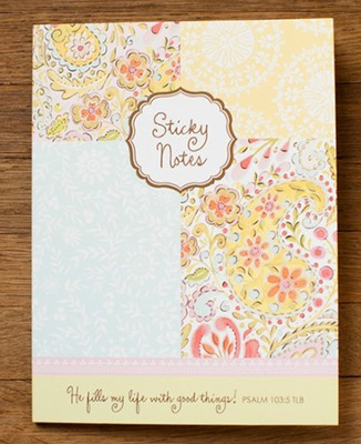 He Fills My Life, Dena Sticky Note Set  -