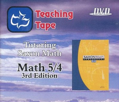 Teaching Tape Full Set DVDs: Saxon Math 5/4, 3rd Edition  -