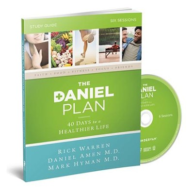 The Daniel Plan Study Guide with DVD: 40 Days to a Healthier Life  -