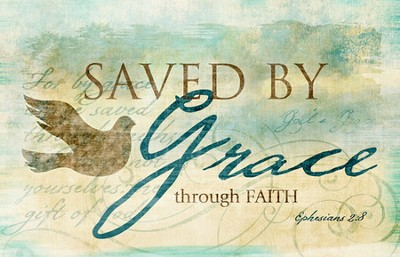 Saved By Grace Magnet  -