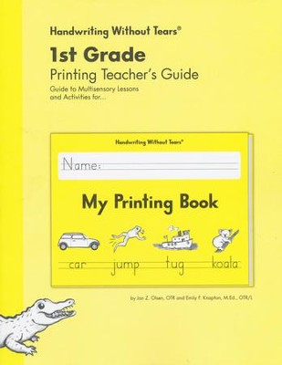 My Printing Book Teacher's Guide, Grade 1, Updated Edition   -