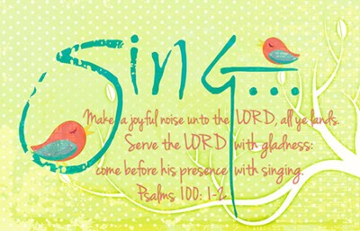 Sing , Make a Joyful Noise Magnet  -