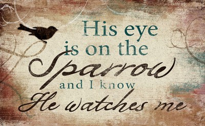 His Eye is on the Sparrow Magnet  -