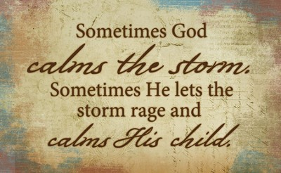 Sometimes God Calms The Storm Magnet  -