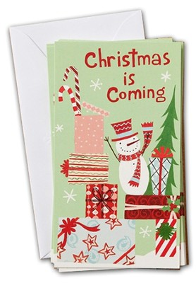 Christmas is Coming, Little Inspirations Cards, Box of 16  -
