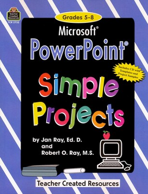 PowerPoint Simple Projects, Grades 5-8, Book & CD-ROM   -