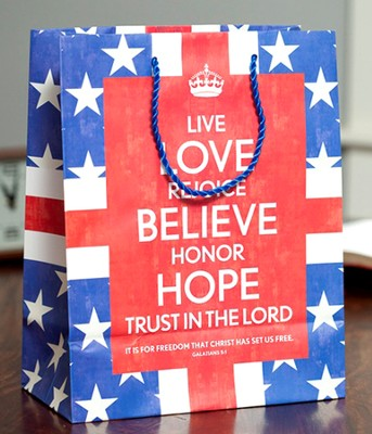 Love Rejoice Believe Gift Bag, Large  -