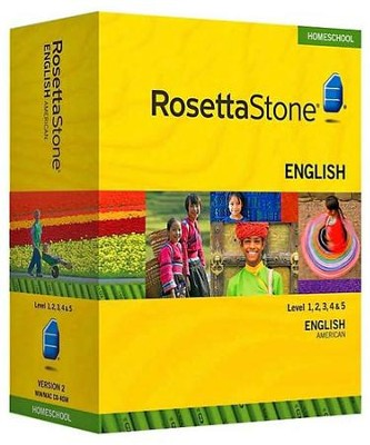 Rosetta Stone English (American) Level 1-5 Set with Audio Companion Homeschool Edition, Version 3  -