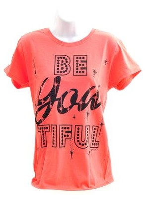 Be YOUtiful Ladies Cut Shirt, Coral, Large  -