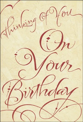 Written with Joy Birthday Cards, Box of 12  -