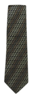 Monochromatic Fish Silk Tie   -