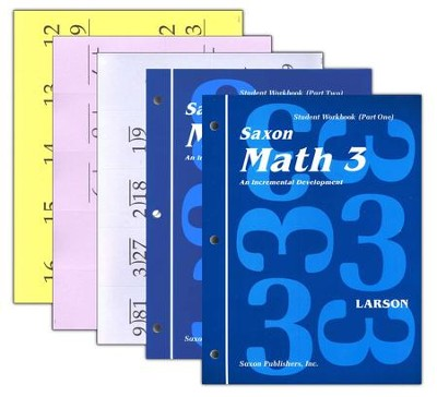 Saxon Math 3 Student Workbook Set with Fact Cards, 1st Edition   -