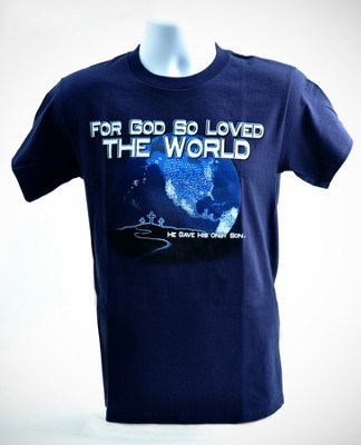 Just For You, John 3:16 Shirt, Navy, Small  -