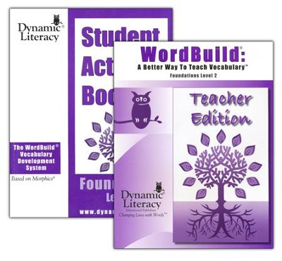 WordBuild &#174: A Better Way To Teach Vocabulary Foundations 2 Combo Pack  -